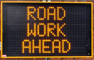Use Digital LED Signage for roadwork safety