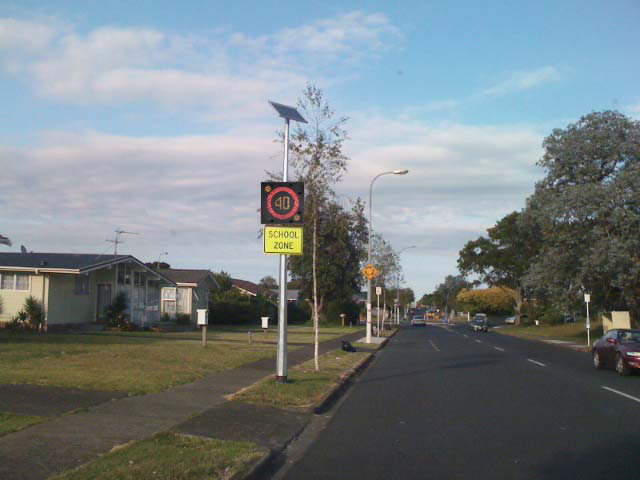 LED Speed Zone signs for roads and schools